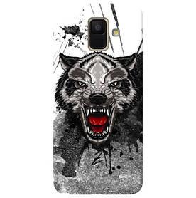 Чехол на Samsung Galaxy A6 2018 Angry Wolf