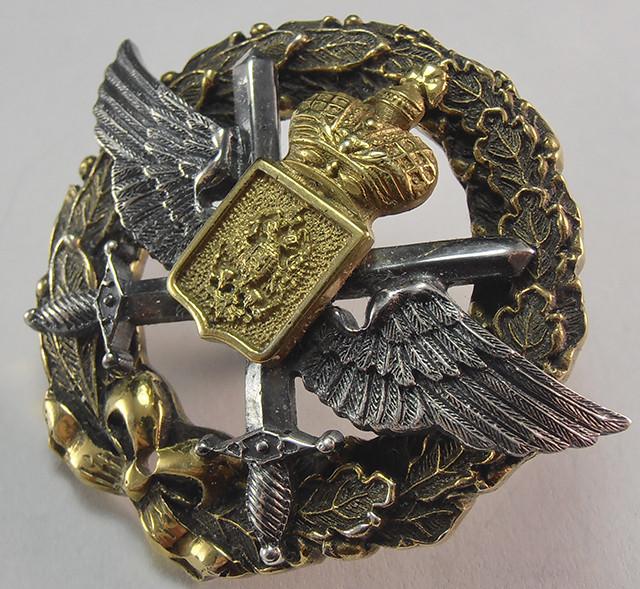 Нагрудный знак военного лётчика, Копия,полковые знаки царской россии