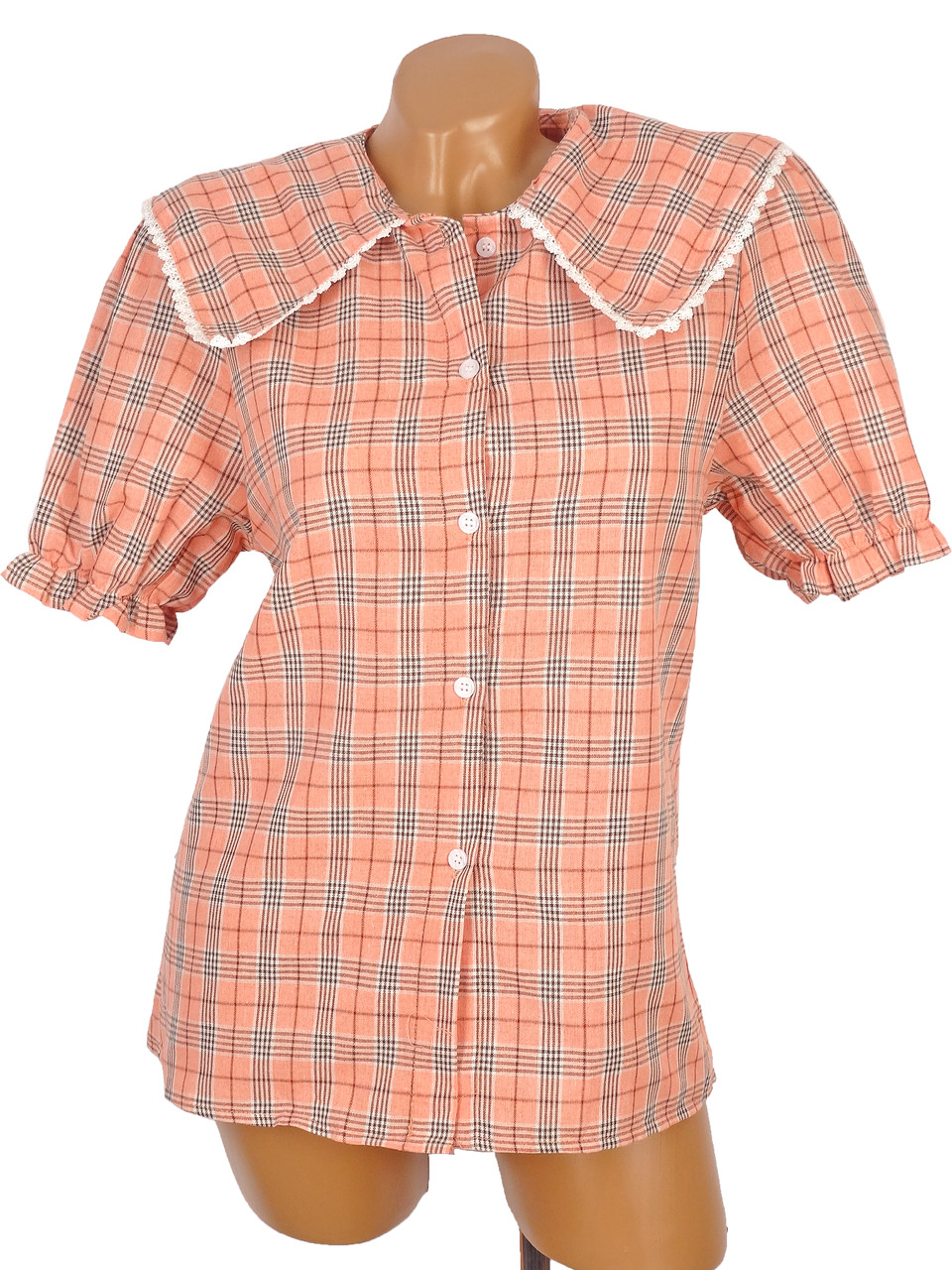 Красивая рубашка с крупным воротником (в расцветках)
