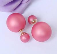 Серьги-пусеты Mise en Dior розовые