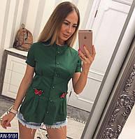 2b7d4fabdec Женская стильная рубашка с бабочками размер 42 44 Новинка 2019