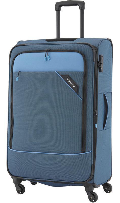 Тканевый чемодан гигант Travelite Derby TL087549-20 102 л, синий