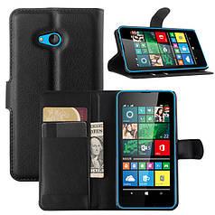 Чехол IETP для Microsoft Lumia 640 книжка кожа PU черный