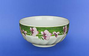Салатник белый Орхидеи