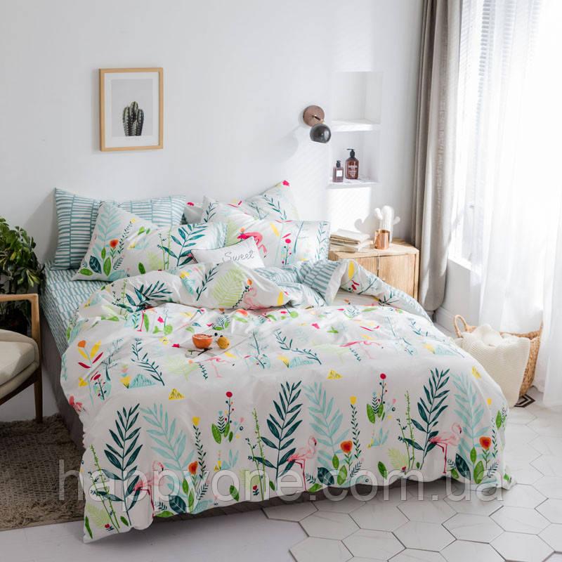 Комплект постельного белья Flamingos in Herbs (полуторный)