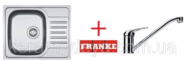 Кухонна мийка Franke Polar PXN 611-60 101.0265.032 матова + змішувач
