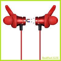 Беспроводные Bluetooth (Блютуз) Наушники с Магнитом и Разъемом для SD-карты BeatPort S17C, фото 1