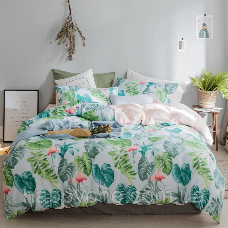"""Комплект постельного белья """"Фламинго в джунглях"""" (полуторный)"""