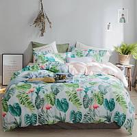 """Комплект постельного белья """"Фламинго в джунглях"""" (полуторный), фото 1"""