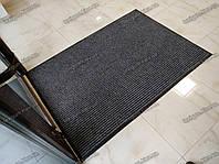 Грязезащитный ковер 100х150см на резиновой основе Рубчик-9 серый