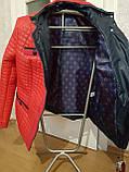 Червона стьобана куртка весна-осінь. Розміри 50-60, фото 6