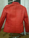 Червона стьобана куртка весна-осінь. Розміри 50-60, фото 8
