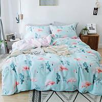 Комплект постельного белья Розовые фламинго (полуторный)