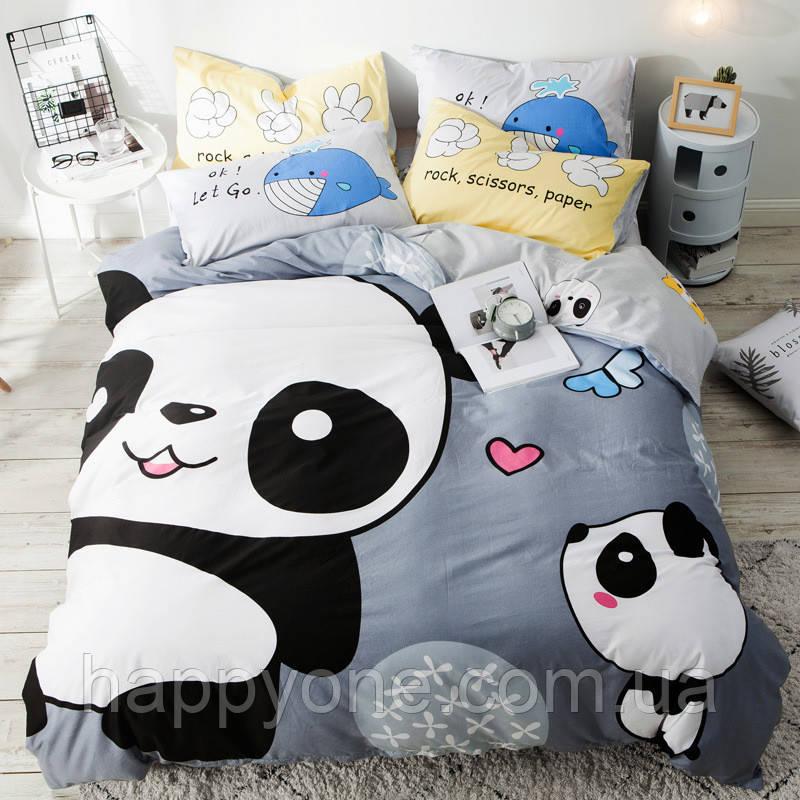 Комплект постельного белья Милые панды (полуторный)