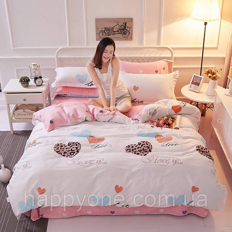 Комплект постельного белья Влюбленные сердца (полуторный)