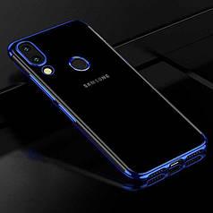 Чехол Frame для Samsung Galaxy M20 силиконовый бампер Blue
