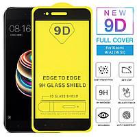 Защитное стекло 9D на весь экран (на пластине) для Xiaomi MiA1 цвет Черный