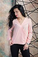Элегантная женская блузка персиковая