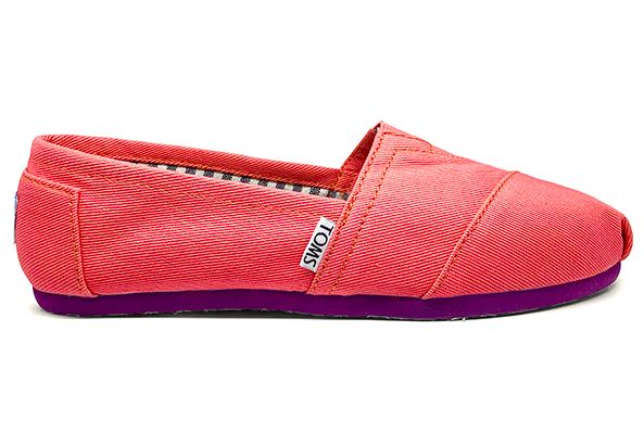 Женские TOMS Coral Denim Canvas Women's Classics, фото 1
