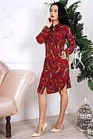 Красочное женское платье с принтом