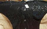 Вітровка жіноча легка чорна. Батал. 50-52, фото 7