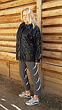 Вітровка жіноча легка чорна. Батал. 50-52, фото 8