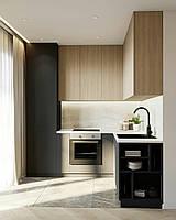 Кухня на заказ фасады панели мдф ALVIC Испания, + дсп Дуб Италия