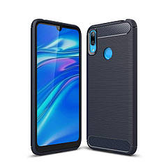 Чехол Carbon для Huawei Y7 2019 бампер оригинальный Blue
