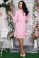 Весеннее платье из качественного материала крепа