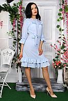 Красивое платье с оригинальными рюшами