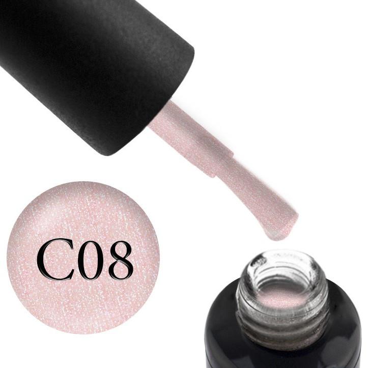 Камуфлирующая база OXXI ProfessionalCover Base №08 (нежно-розовый, с серебряным шиммером), 10 мл.