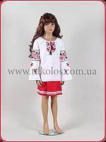 """Вышитая рубашка для девочки """"Калинка"""", фото 1"""