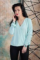 Красивая женская блузка с запахом светлая мята