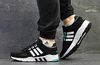 Мужские кроссовки в стиле Adidas Equipment, черные с белым 44 (28 см)