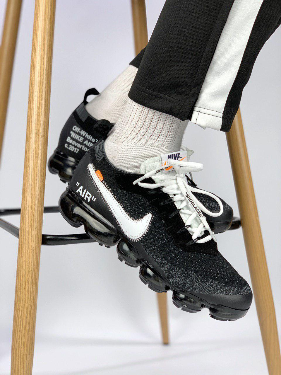 Мужские кроссовки в стиле Off White x Nike VaporMax (40, 41, 42, 43, 44, 45 размеры)