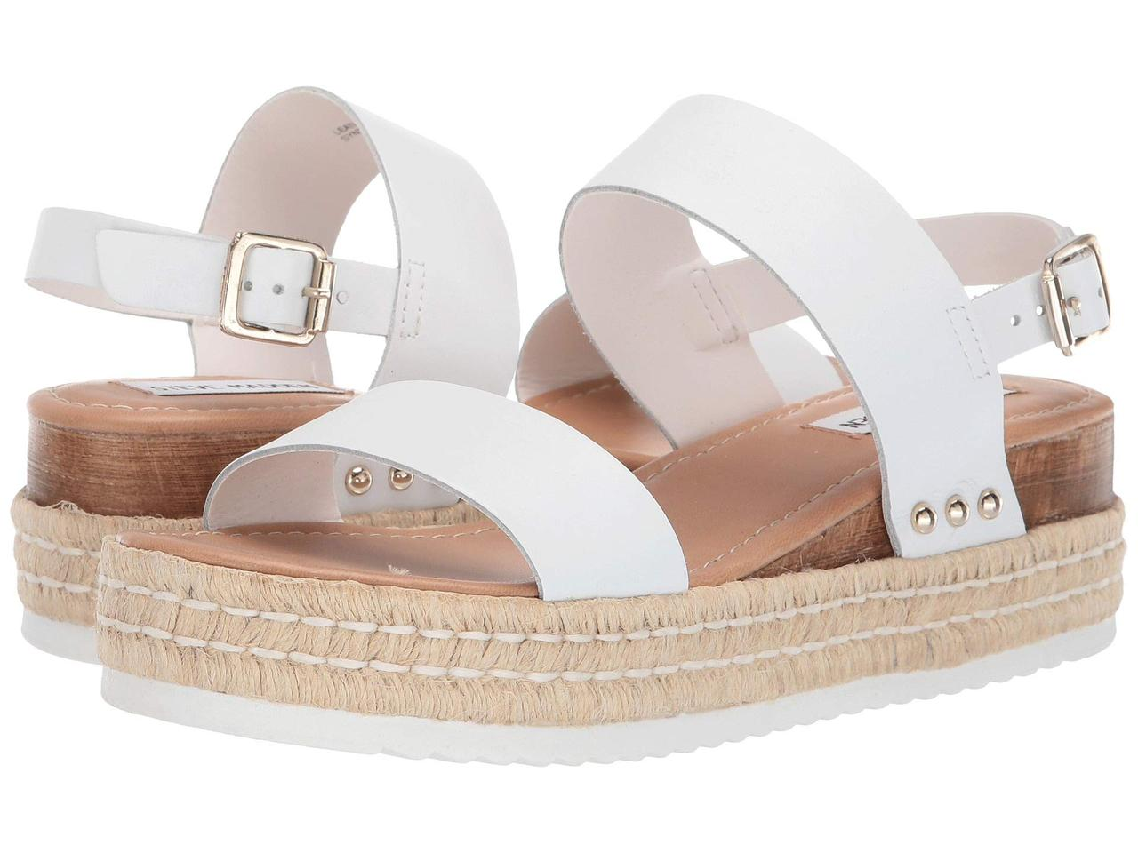 db22c14352c Туфли на каблуке (Оригинал) Steve Madden Catia Wedge Sandal White Leather