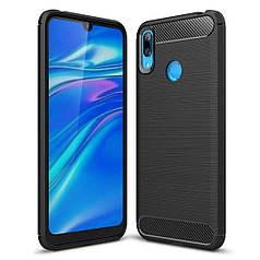 Чехол Carbon для Huawei Y7 2019 бампер оригинальный Black
