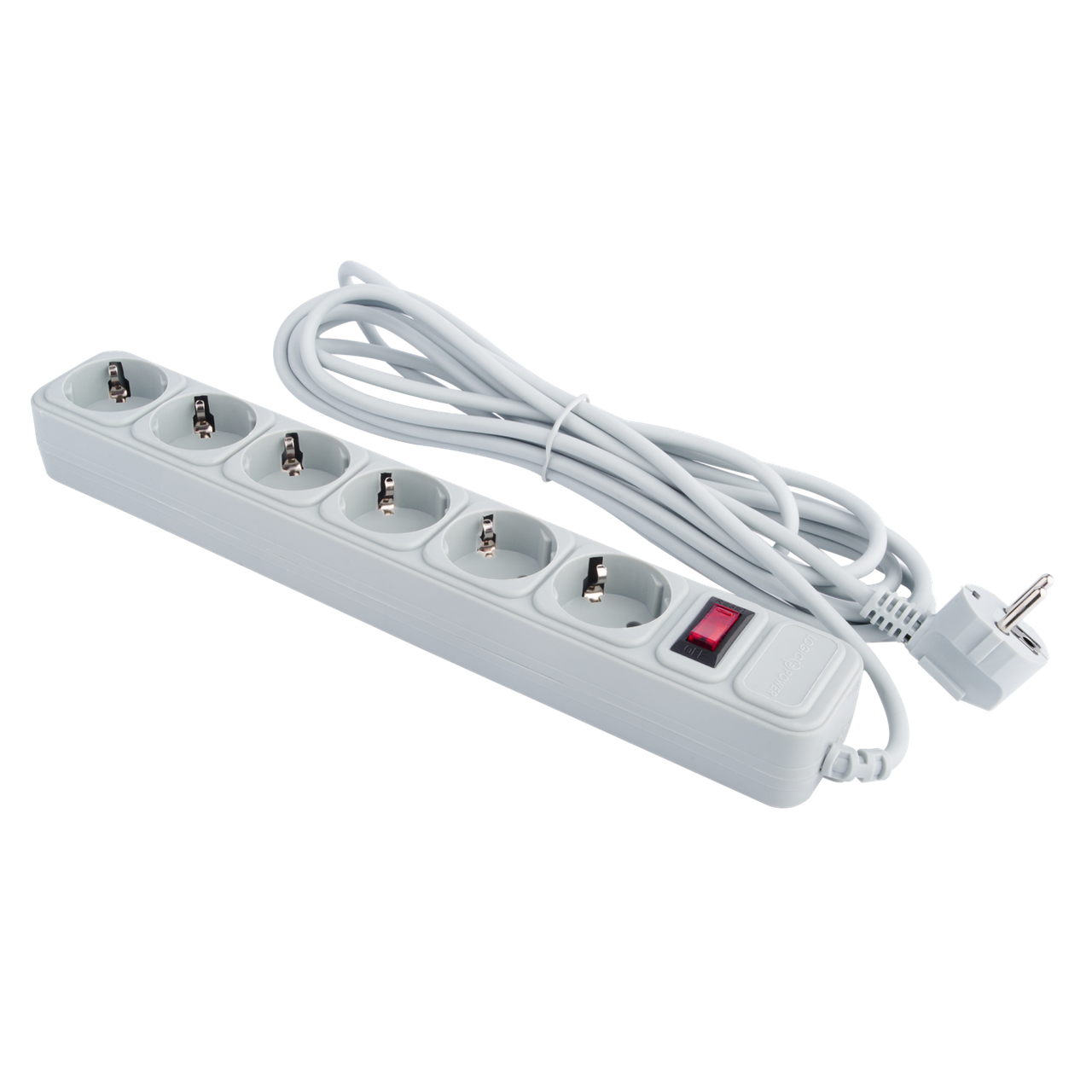 Сетевой электрический фильтр - удлинитель 6 розеток 4,5 м LP-X6 серый