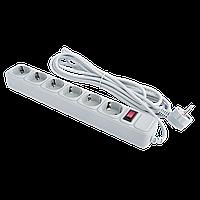 Сетевой электрический фильтр - удлинитель 6 розеток 4,5 м LP-X6 серый, фото 1