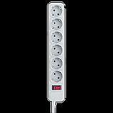 Сетевой электрический фильтр - удлинитель 6 розеток 4,5 м LP-X6 серый, фото 3