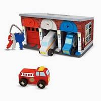 Гараж спасательных машин Melissa & Doug с ключами (MD4607)