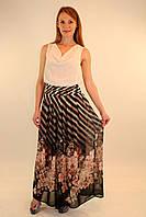 Платье с длинной шифоновой юбкой 42-48 р