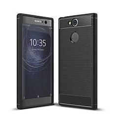 Чехол Carbon для Sony Xperia XA2 / H4113 / H4133 / H3113 / H3123 / H3133 бампер черный