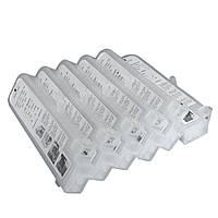 Перезаправляемые картриджи Ocbestjet тип F3 для плоттеров Canon iPF650/iPF750 с чипами (6 шт. по 280 мл)