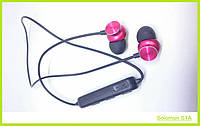 Беспроводные Bluetooth (Блютуз) Наушники с Магнитом Вакумные Solomun S1A, фото 1