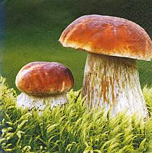 Декупажний серветка Білі гриби 8194