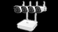 Wi-Fi комплект (NVR+4xIPC) ZIP-KIT/301-04LB-W/4*2122SR3-F40W-D серии Smart ZetPro