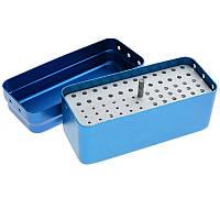Стерилизатор для боров и эндо файлов (средний) 72отв, синий