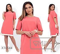 Летнее платье-трапеция в больших размерах с коротким рукавом 1151545, фото 1