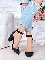 Туфли Bogemiya черная замша 6394-28, фото 2